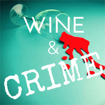 Logo with text: Wine & Crime